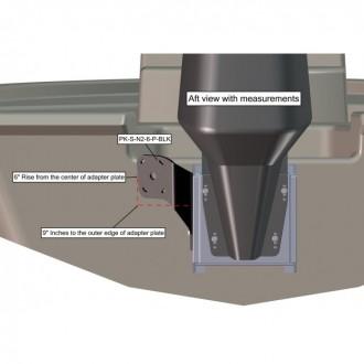 Braced Port Side S-N2-6 Black Adapter Plate