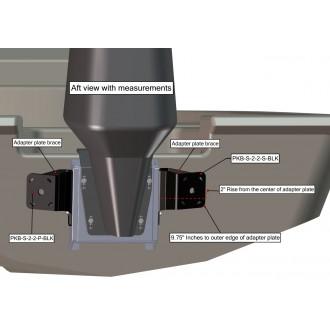 Dual Braced S-2-2 Black Adapter Plate Kit