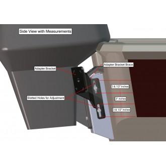 Dual Braced S-2-6 Black Adapter Plate Kit