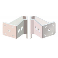 Dual Braced S-5-4 White Adapter Plate