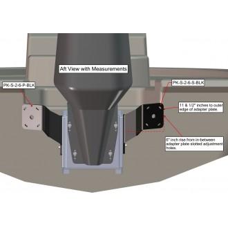 Dual S-2-6 Black Adapter Plate Kit