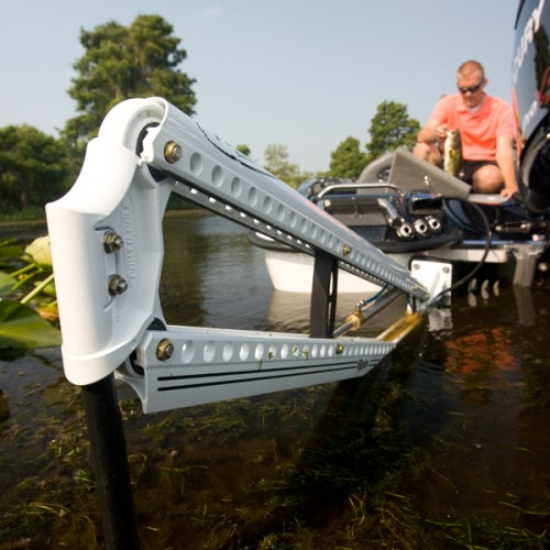 Power pole blade shallow water anchor white 10 ft for Power pole fishing